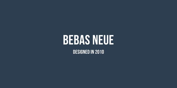 Шрифт bebas neue скачать для web или photoshop.