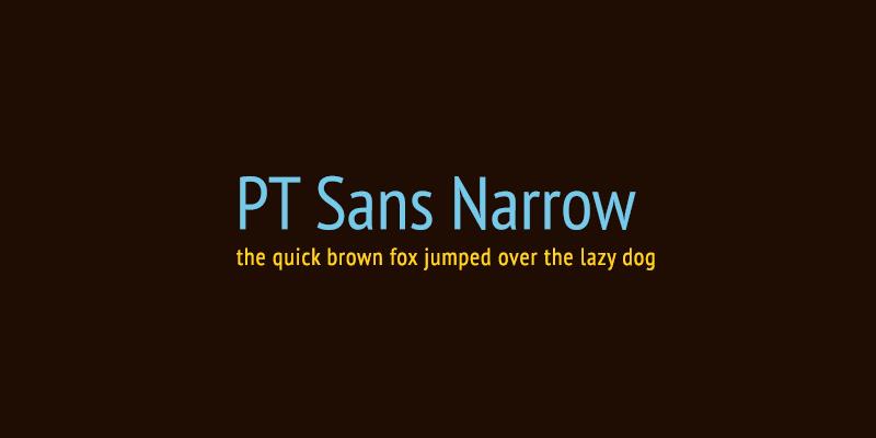 шрифт Pt Sans Narrow скачать для Web или Photoshop