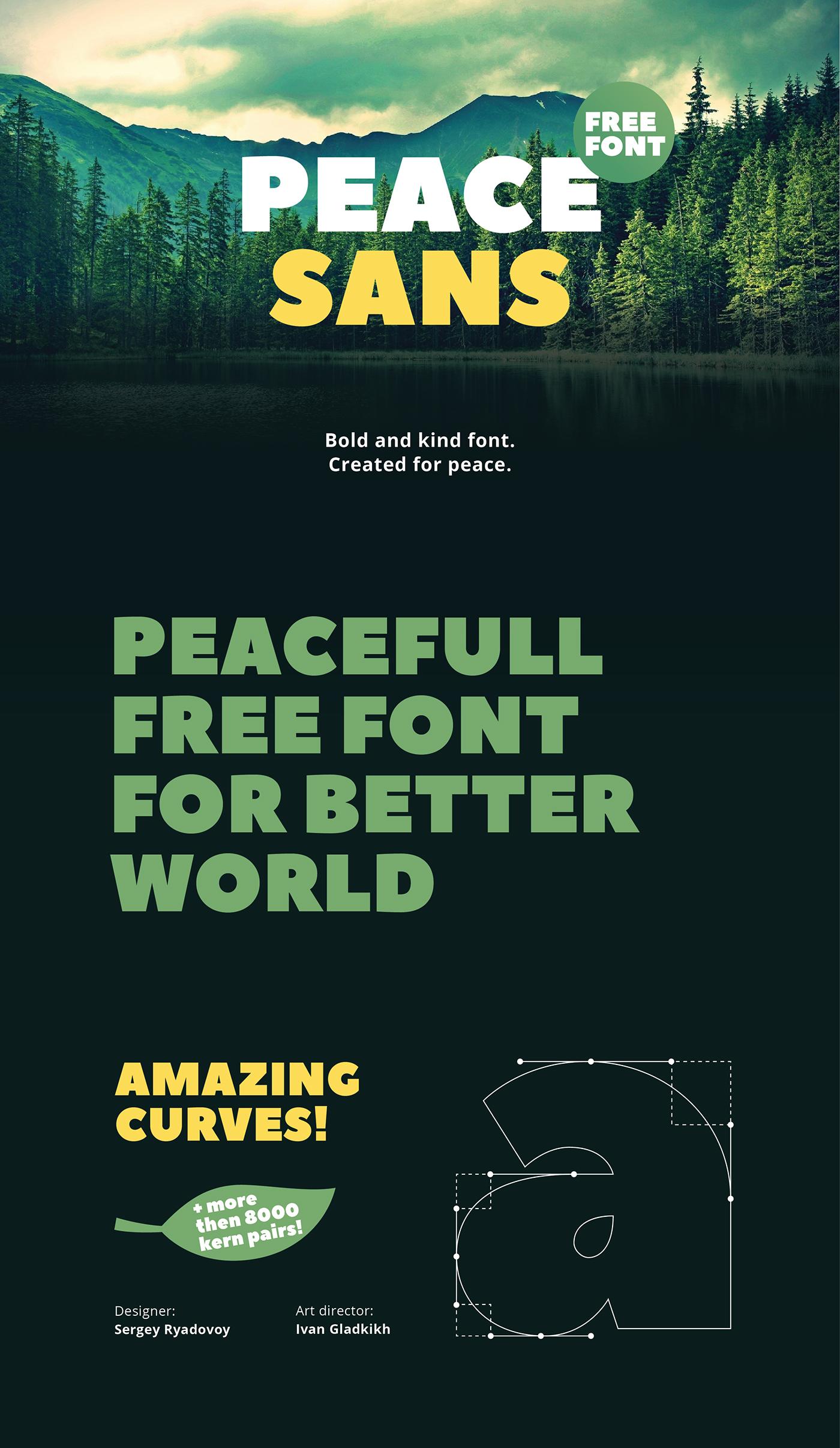 шрифт Peace Sans скачать для Web или Photoshop