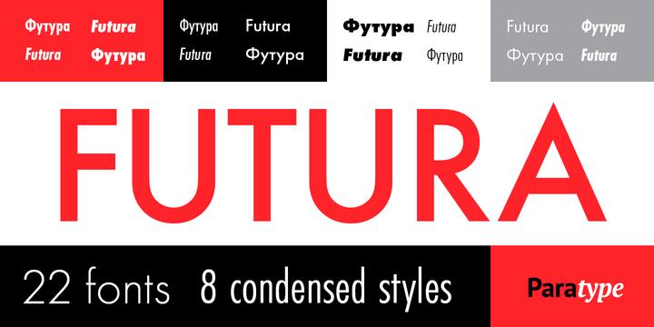 Шрифт Futura PT скачать для Web или Photoshop