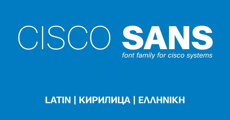 шрифт Cisco Sans скачать для Web Figma или Photoshop