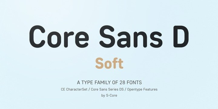 шрифт Core Sans Ds скачать для Web Figma или Photoshop