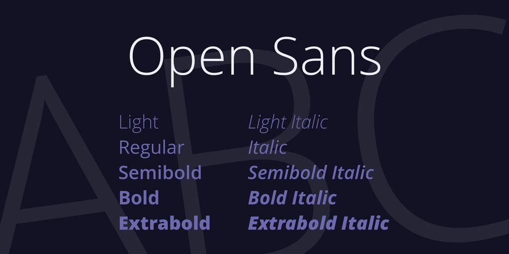 Open Sans Mac Download